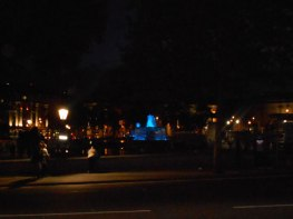 Blue fountains