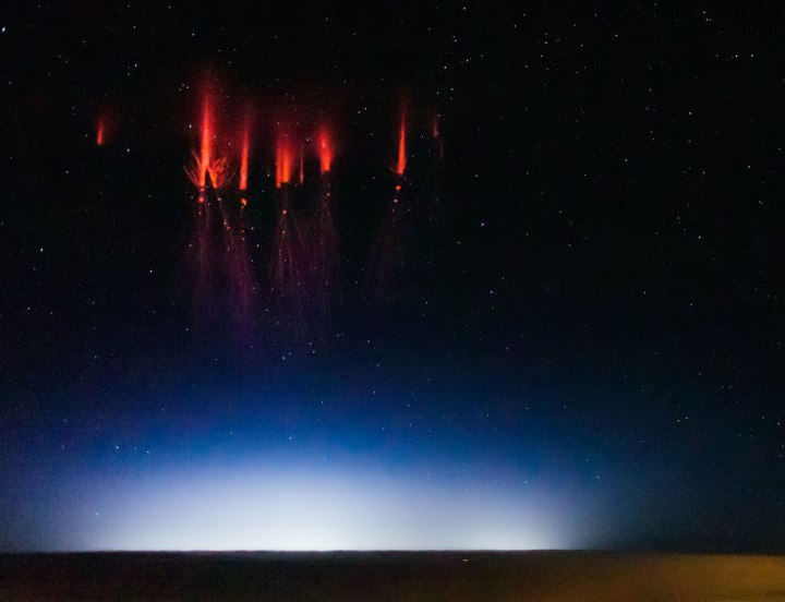 Red Sprites Over Nebraska