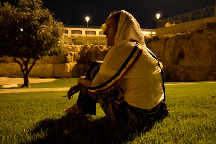 Sista Dee Relaxing in Jerusalem
