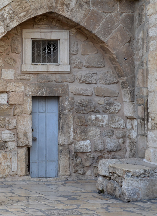 An outer door of the Holy Sepulchre